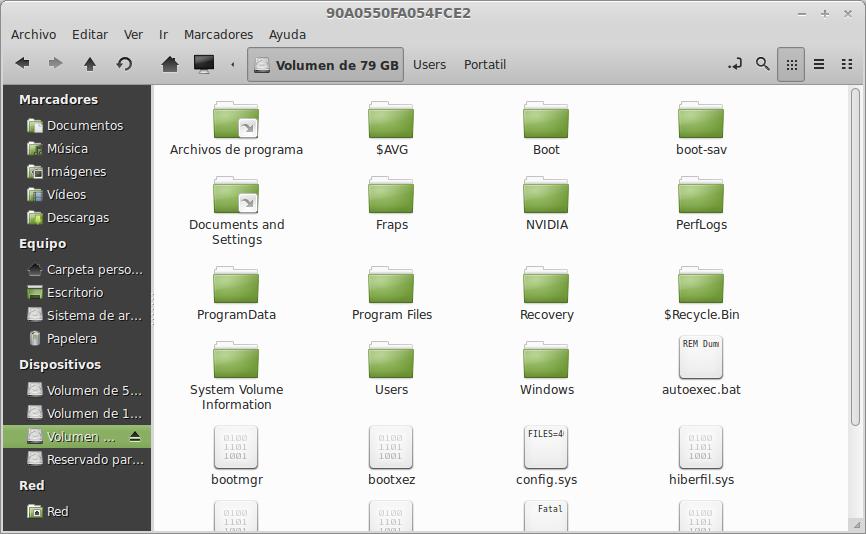 Acceder a la carpeta de Windows desde Linux