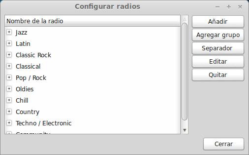 Emisoras Radiotray ubuntu width= height=