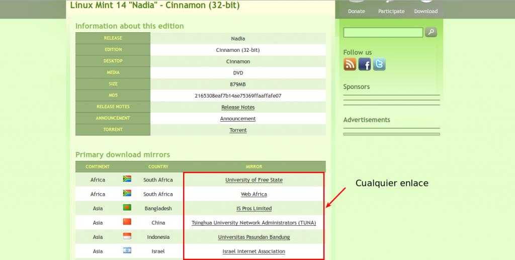Descargar Linux Mint 14 Nadia
