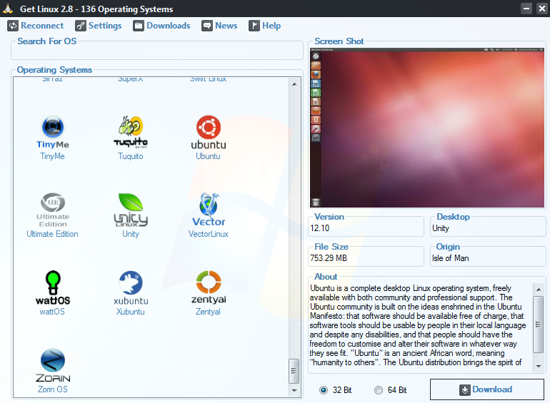 Distribuciones programa Get-Linux
