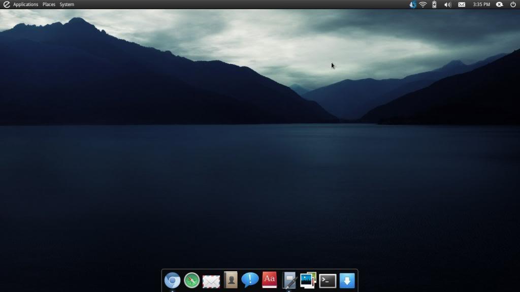 Captura del entorno elementary O.S. Linux