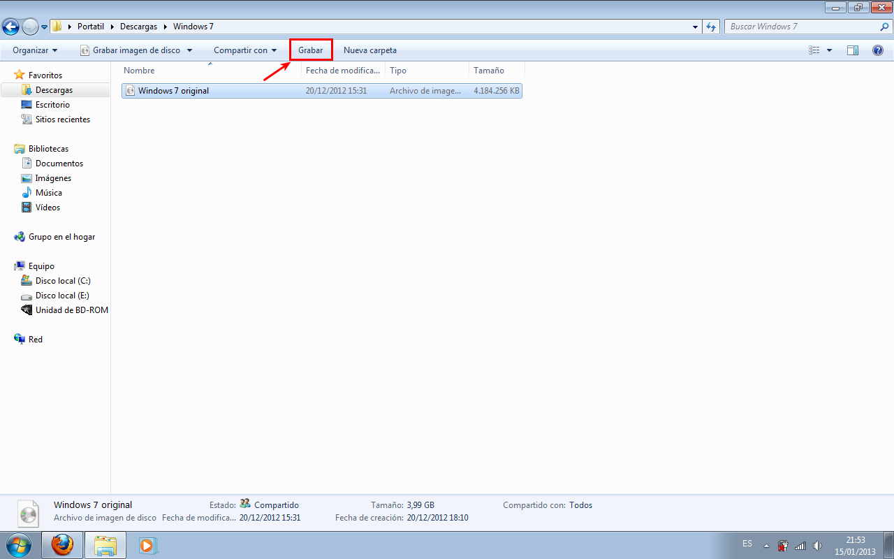 Grabar imagen de Windows 7 height=400
