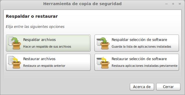 Herramienta copia seguridad Linux Mint width= height=