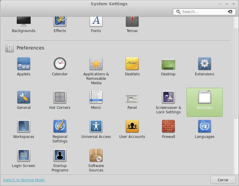Herramientas del sistema Linux Mint 15