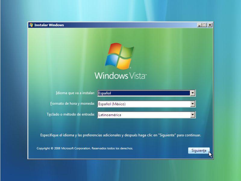 Instalar Windows Vista Paso 1 width= height=