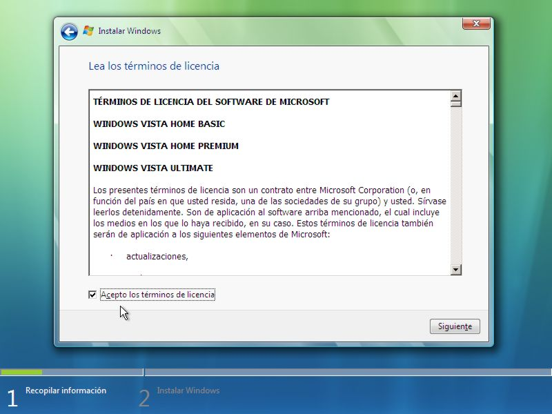 Instalar Windows Vista Paso 4 width= height=