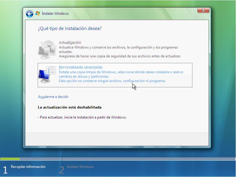Instalar Windows Vista Paso 5 width= height=