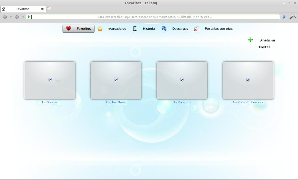 Instalar Rekonq en Ubuntu