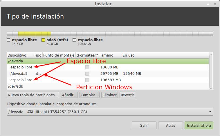 Menú de instalación de Linux Mint 14 width= height=