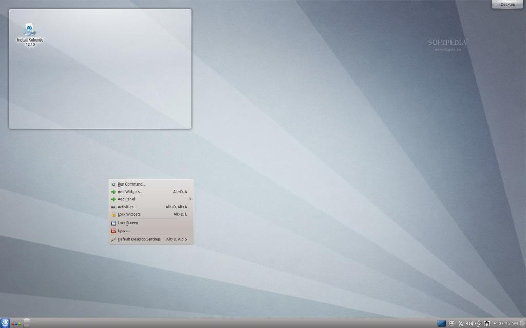 captura del entorno KDE
