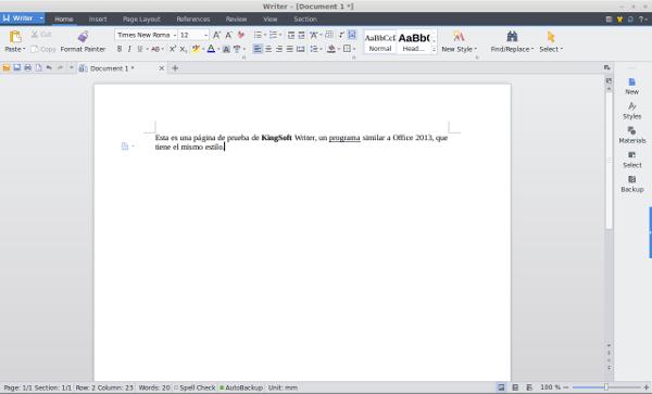 Word Kingsoft Linux