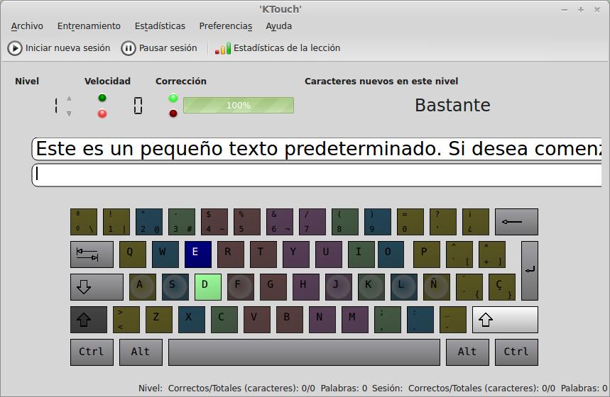 Ktouch en Ubuntu