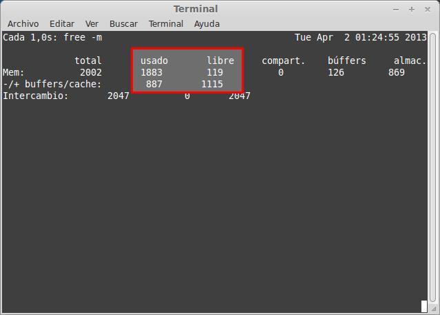 Liberar memoria RAM en Linux width= height=
