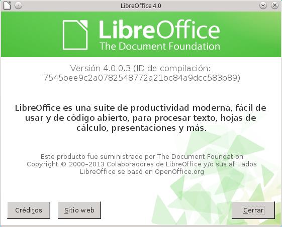 Libreoffice 4.0 en Ubuntu y Mint