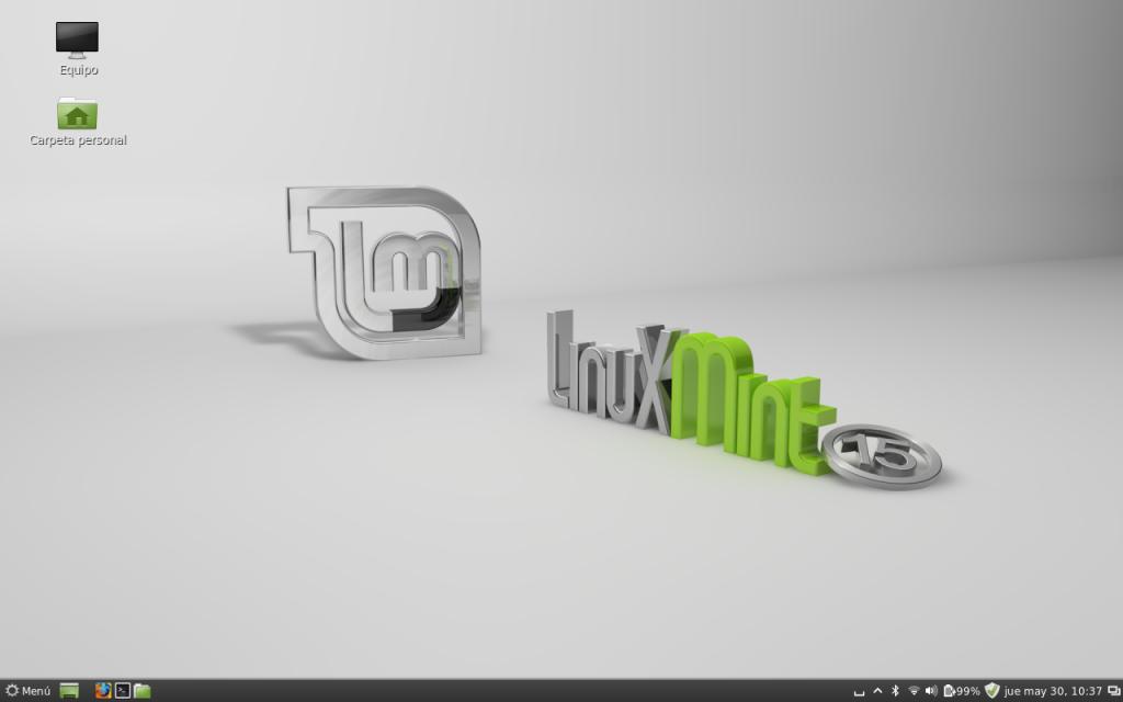 Escritorio Linux Mint 15