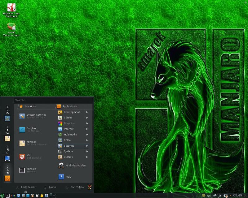 KDE en Manjaro width= height=