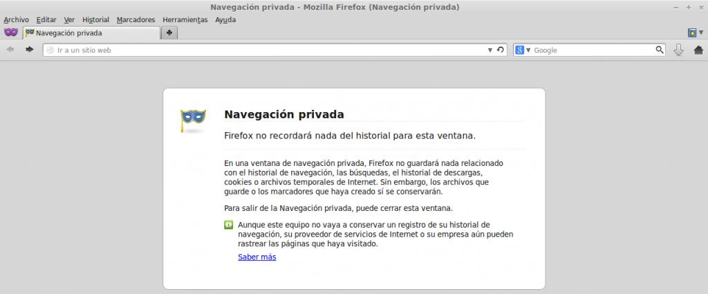 Navegación privada y gestor de descargas Firefox 20