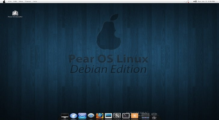 Captura de Pear O.S. Linux