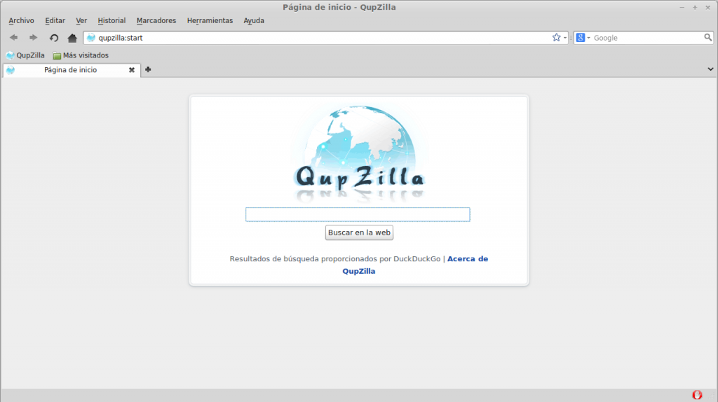 Navegador web Qupzilla