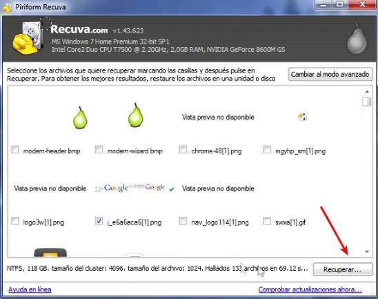 recuperar archivos recuva
