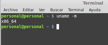 Saber arquitectura procesador Linux width= height=