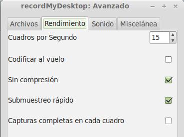 configurar sonido recordmydesktop