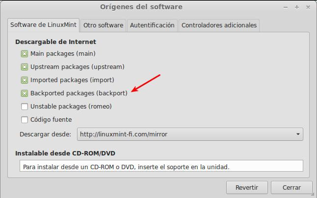 Recargar paquetes en Linux Mint 13
