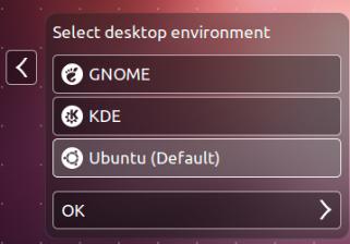 selector de entorno en ubuntu