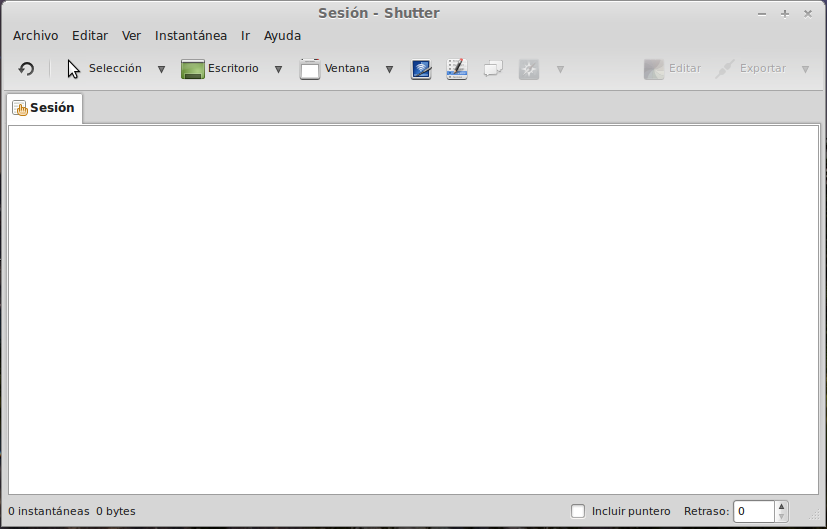 Capturas de pantalla con Shutter en Linux