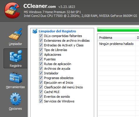 limpiar el registro de windows