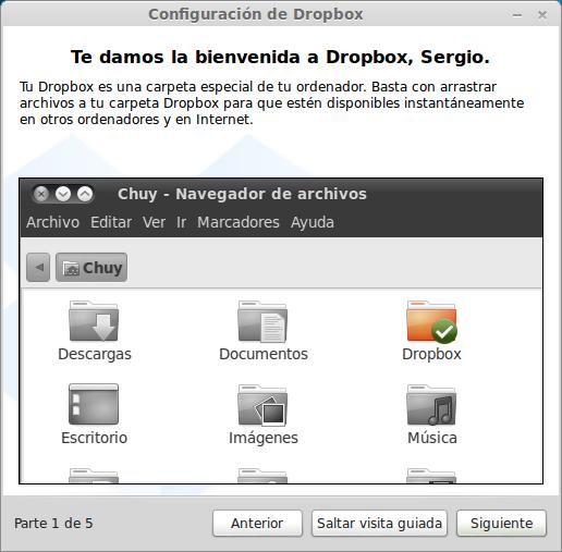 Visita guiada por dropbox