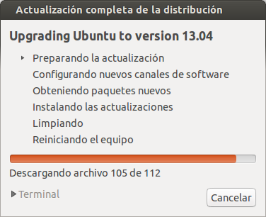 Actualizar de Ubuntu 12.10 a Ubuntu 13.04 Raring Ringtail