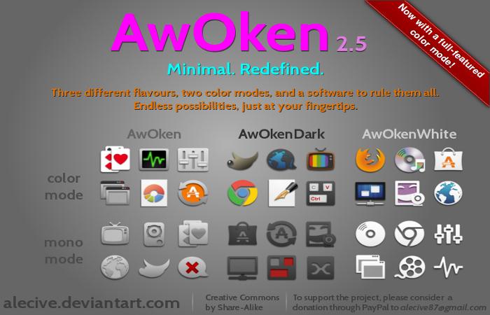 Personalizar Ubuntu con los iconos AwOken – nuevos temas