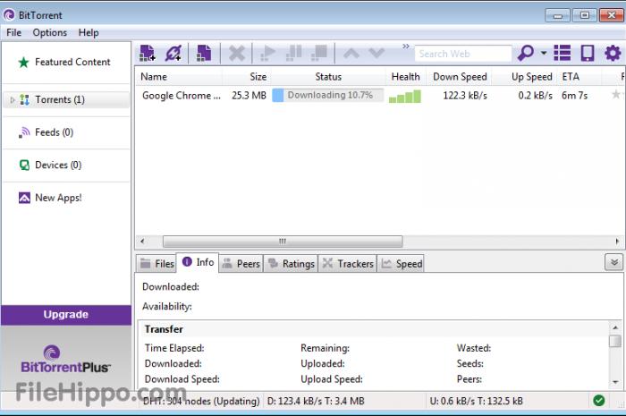 Descargar torrent con el programa bittorrent en Windows