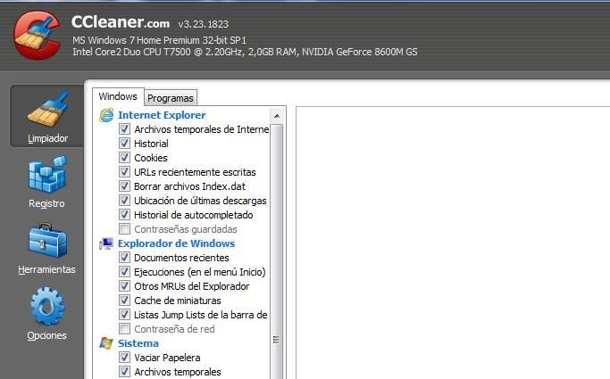 Limpiar archivos basura en Windows con Ccleaner