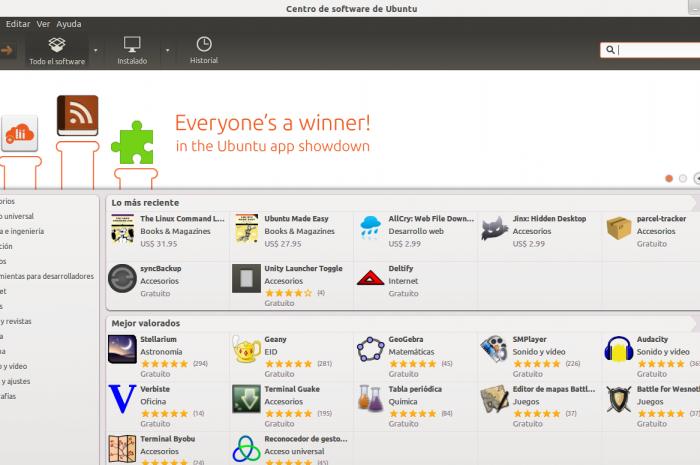 Instalar programas desde el centro de software en Ubuntu