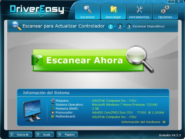 Actualiza los drivers de Windows con DriverEasy