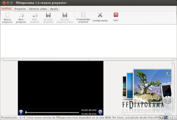 Editor de vídeos ffDiaporama en Ubuntu y derivados