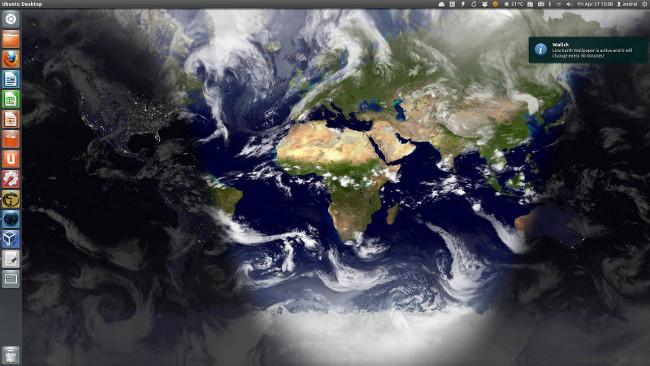 Fondo de la tierra en wallch desde Ubuntu width= height=