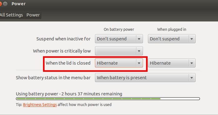Activar la hibernación en Ubuntu 13.04