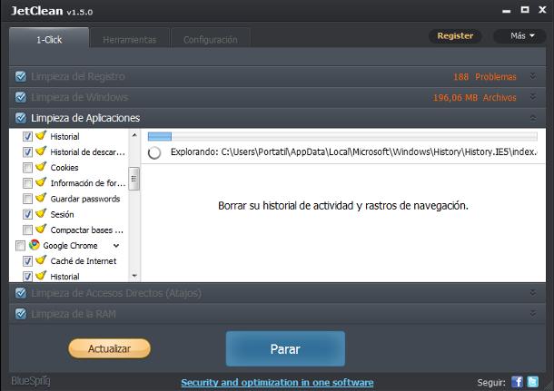 Limpia los archivos de Windows con JetClean