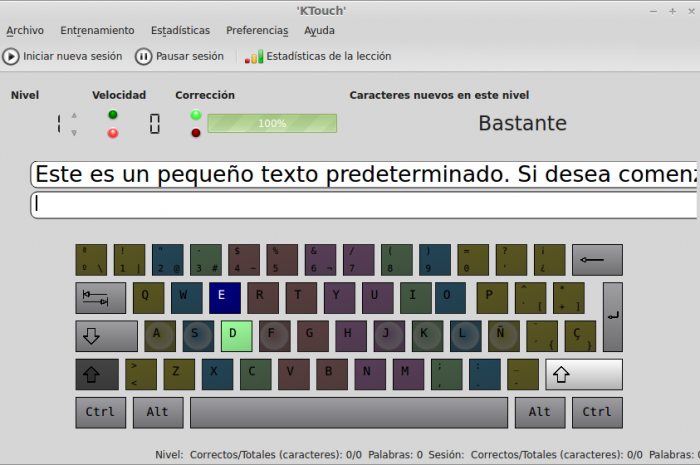 Ktouch, aprende a escribir con el teclado