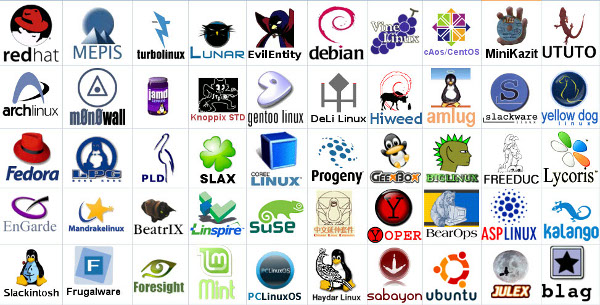 logos de las principales distros width= height=