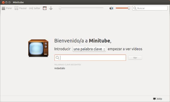 Reproduce vídeos de Youtube sin flash con Minitube en Windows y Linux