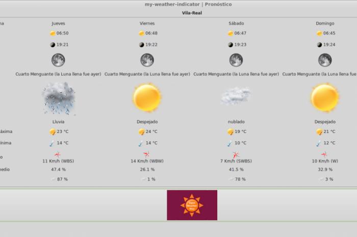 Añadir icono indicador del Clima y meteorología en Ubuntu