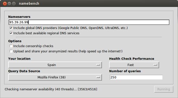 Acelerar la conexión de internet en Ubuntu con Namebench