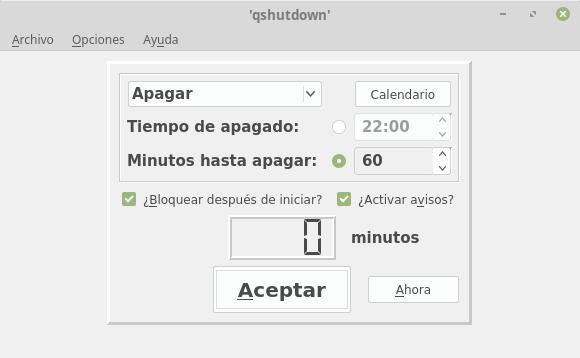 Apagado programado en Ubuntu | Linux