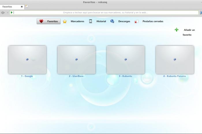 Instalar el navegador Rekonq en Ubuntu 12.10