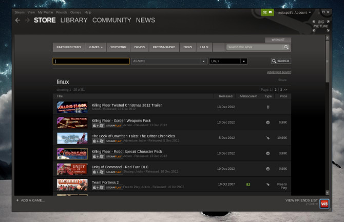 Steam lanzado oficialmente para Linux