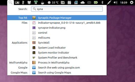 Añadir el buscador Indicator Synapse al panel de Ubuntu